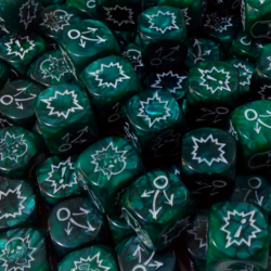 Green Block Dice