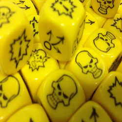Yellow Block Dice