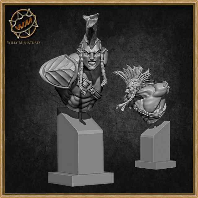 Wood Elves 75mm & Busts - Willy Miniatures